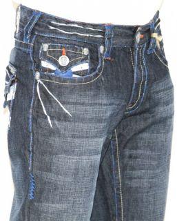 New Mens Laguna Beach Jeans Corona Del Mar Blue Stitch Boot Cut 42