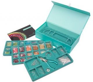 Glass Bead Jewelry Making Kit with 4 in 1 Tool & Beading Tray