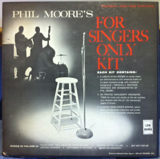 PHIL MOORE cool jazz n rhythm vol III for singings only LP Mint  VEE