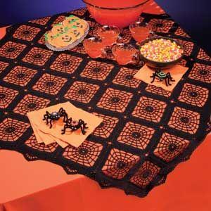 Crochet World October 2011 Halloween Patterns Afghans Aran Spider Web