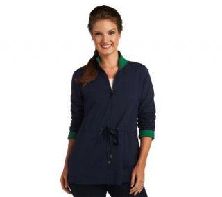 Liz Claiborne New York French Terry Anorak Jacket   A227448