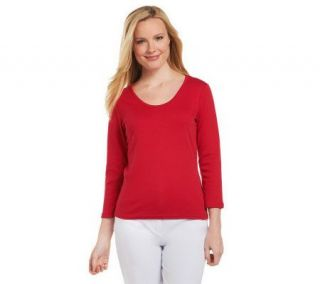 Liz Claiborne New York Essentials Rounded V neck T shirt   A218548