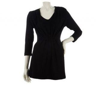 Liz Claiborne New York 3/4 Sleeve Tunic w/Pleat Detail   A228049