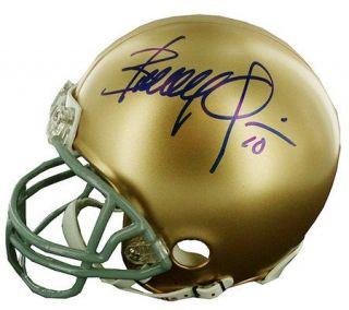Brady Quinn Notre Dame Signed Replica Mini Helmet —