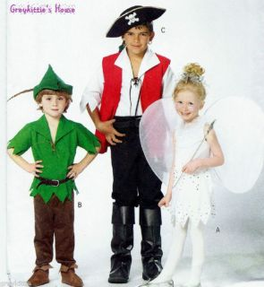 Childs Sz 3 6 Costume Sewing Pattern Butterick 4632 from Greykitties
