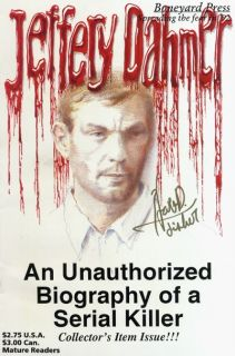 Jeffery Jeffrey Dahmer Biography comic signed Sick Hart D. Fisher