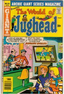 Archie Giant Series The World of Jughead Comic Books 1975 1976