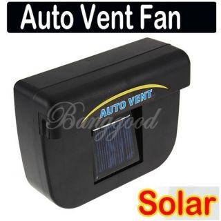 Solar Sun Powered Car Auto Air Vent Cool Cooler Vent Cooling Fan