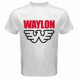 Hot New Waylon Jennings Logo Symbol Country Music T Shirt Size s M L