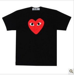 Comme Des Garcons CDG Play Red Heart T Shirt Black Sz s M L