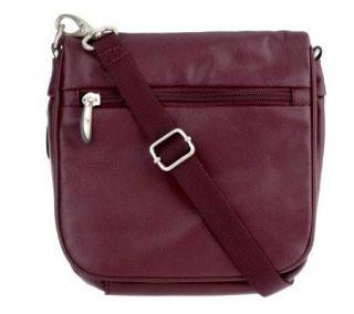 Travelon Leather Essentials Organizer Shoulder Bag —