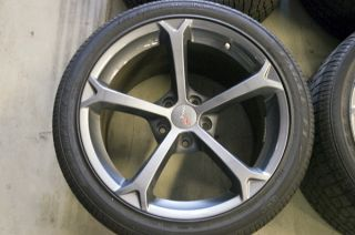 Corvette Grand Sport Competition Grey Take Off Wheels Tires