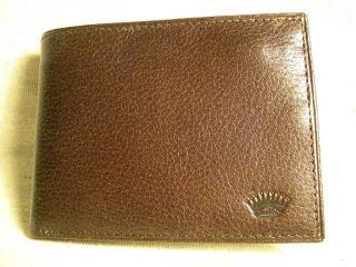 Countess Mara Mens Dark Brown Genuine Leather Bifold Wallet