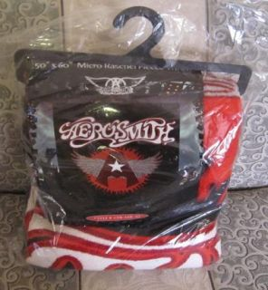 New Aerosmith Plush A Wings Plush Fleece Throw Blanket Rock Band Gift