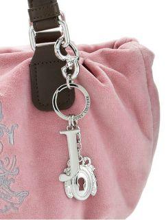 Juicy Couture Pink Etiquette Shoulder Bag Purse Tote Charm w/ Wallet