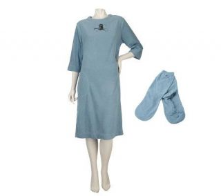 Stan Herman Night Owl Microfleece Sleep Tee with Booties   A218051