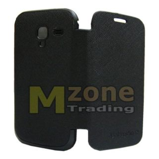 Black Battery Cover Flip Leather Case for Samsung Galaxy Ace 2 I8160