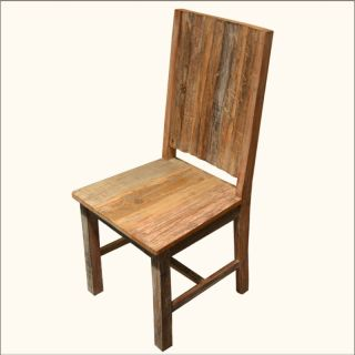 Hardwood Solid Back Kitchen Dining Room Patio Chair Furniture