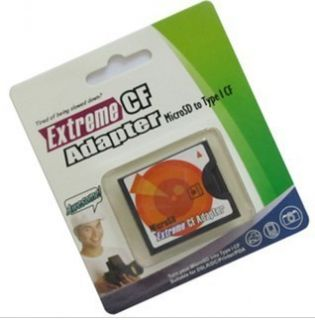MicroSD Micro SD to Type I Compact Flash Card CF Reader Adapter