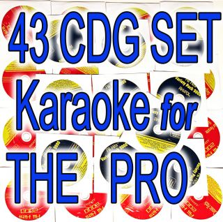 KARAOKE CDG ALL HITS 43 DISC SET. COUNTRY,POP, ROCK,GREEN DAY WITNEY
