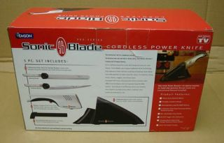 New Sonic Blade Cordless Rechargeable Knife Powerful Electric Battery