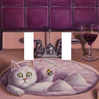 Double Light Switch Plate Cover Cat Kitten Bathroom