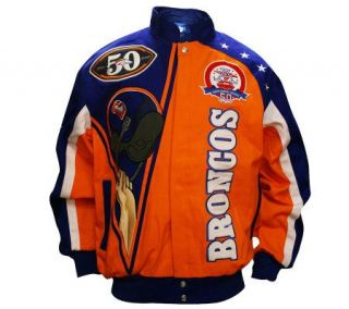 NFL Denver Broncos AFL 50th Anniversary Jacket —