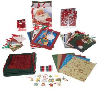 67 Piece Gift Wrap, Bag and Ribbon Set with Organizer Bag —