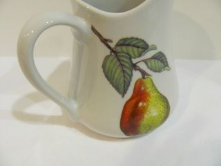 BIA Cordon Bleu White Porcelain Pitcher with Fruit Design