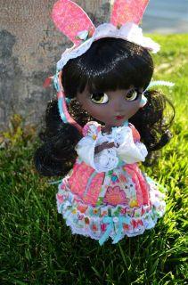 Pullip Doll Full Custom Corinna Black Like Another Queen Lolita Bunny