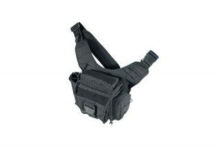 Leapers UTG Covert Carry Ambidextrous Messenger Bag Black PVC P219B