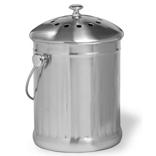 Norpro 1 Gallon Stainless Steel Compost Keeper New