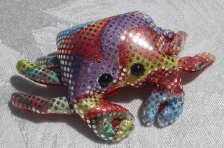 New Cute Sparkle Crab Stuffed Fish Sand Animal Toy Gift Rainbow