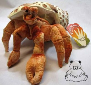 Hermit Crab Hand Puppet Folkmanis Plush Toy Stuffed Animal Shell