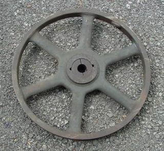 LARGE VINTAGE CAST IRON FLYWHEEL PULLEY 25 INCHES
