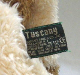 Russ Berrie Tuscany Cow Stuffed Animal Plush Bean Bag Large 14 Doll