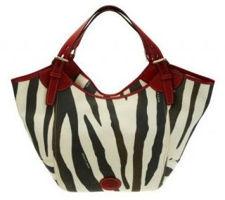 Dooney & Bourke Canvas Zebra Print Shopper —