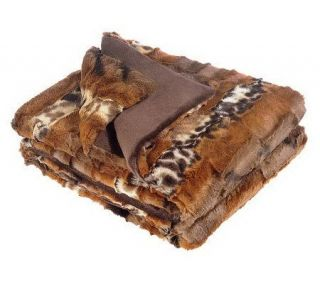 Dennis Basso Textured Faux Fur 50x60 Throw —