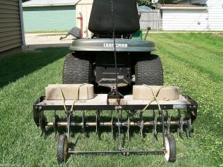 Agri Fab 40 Curved Spike Lawn Aerator Assembled Pull Behind Type with