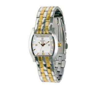 Swiss Tradition Ladies Diamond Watch, Silvertone/Goldtone —