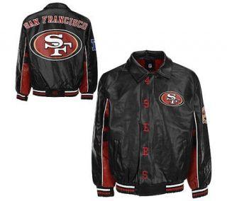 NFL San Francisco 49ers Faux Leather Jacket —