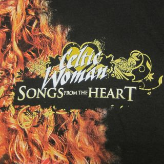 shirt Songs from the Heart Concert Tour Tee Black Graphic Size M