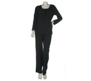 Stan Herman Brushed Jersey Lounge Pajama Set   A216673