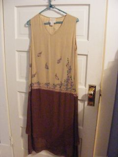 Tan April Cornell Dress Size Medium