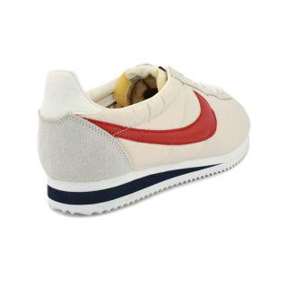 Nike Classic Cortez Vintage 511456 100 Mens Nylon Suede Trainers Sail