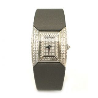 Ladies 18K White Gold Diamond Corum Butterfly Watch
