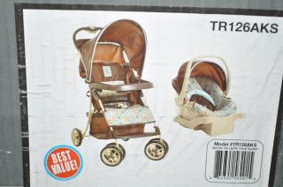 Cosco TR126AKS Sprinter Go Lightly Travel System Stroller Car Seat