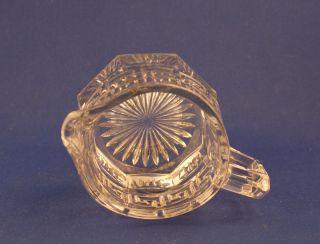 Vintage Heisey Glass Company Crystal Greek Key Creamer c.1920