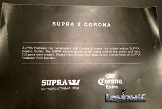 Supra Cutler x Corona Collaboration 1 Few Celebrity Friends Family
