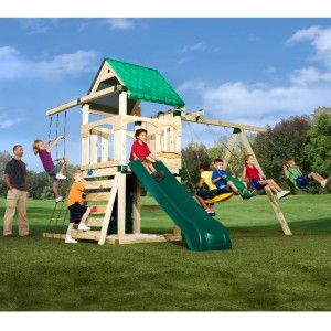 SWING SET ULTIMATE CREEKSIDE   SLIDE PLAYGROUND HARDWARE